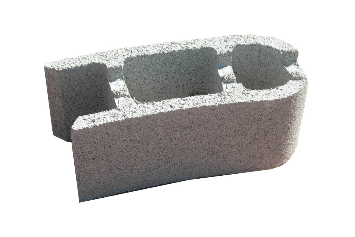Bloc bancher courbe blocs b ton sobefa quissac gard - Poids d un parpaing ...